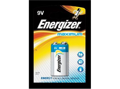 Bateria Maximum 6LR61 ENERGIZER 9V